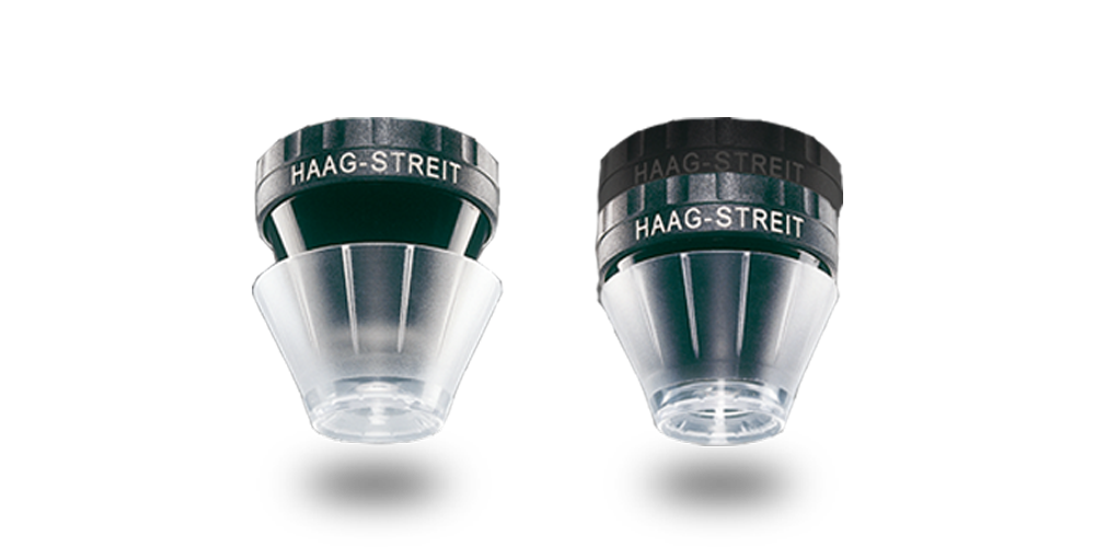 Two Haag-Streit contact glasses