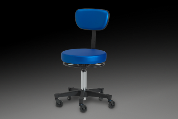 5300 stool shown with round seat and no arms